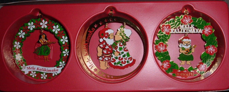 HAWAIIAN CHRISTMAS CELEBRATION GIFT ORNAMENT SET