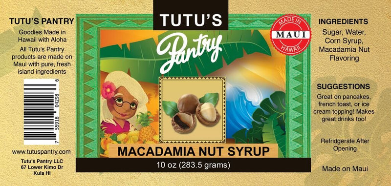Hawaii Maui Value Pack Tutu's Pantry Macadamia Nut Syrup