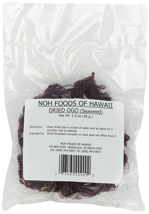 NOH Foods of Hawaii Dried Ogo Seaweed, 1-Ounce