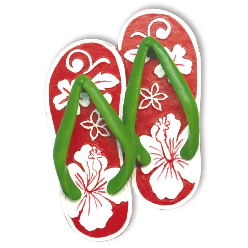 Hand-Painted Resin Ornaments HIBISCUS SLIPPERS