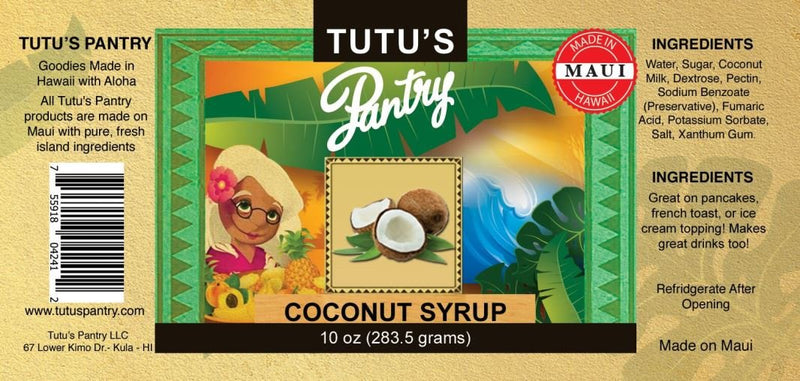 Hawaii Maui Value Pack Tutu's Pantry Coconut Syrup