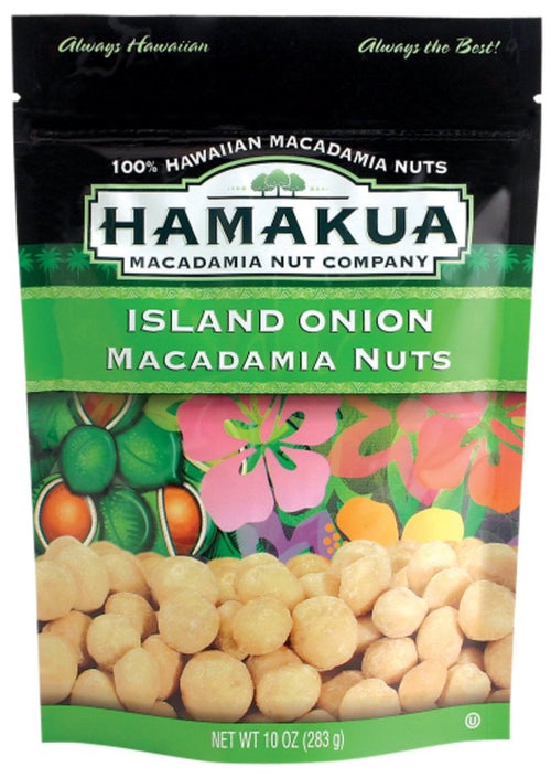 Hamakua Macadamia Nuts Island Onion 10 Ounce Bag
