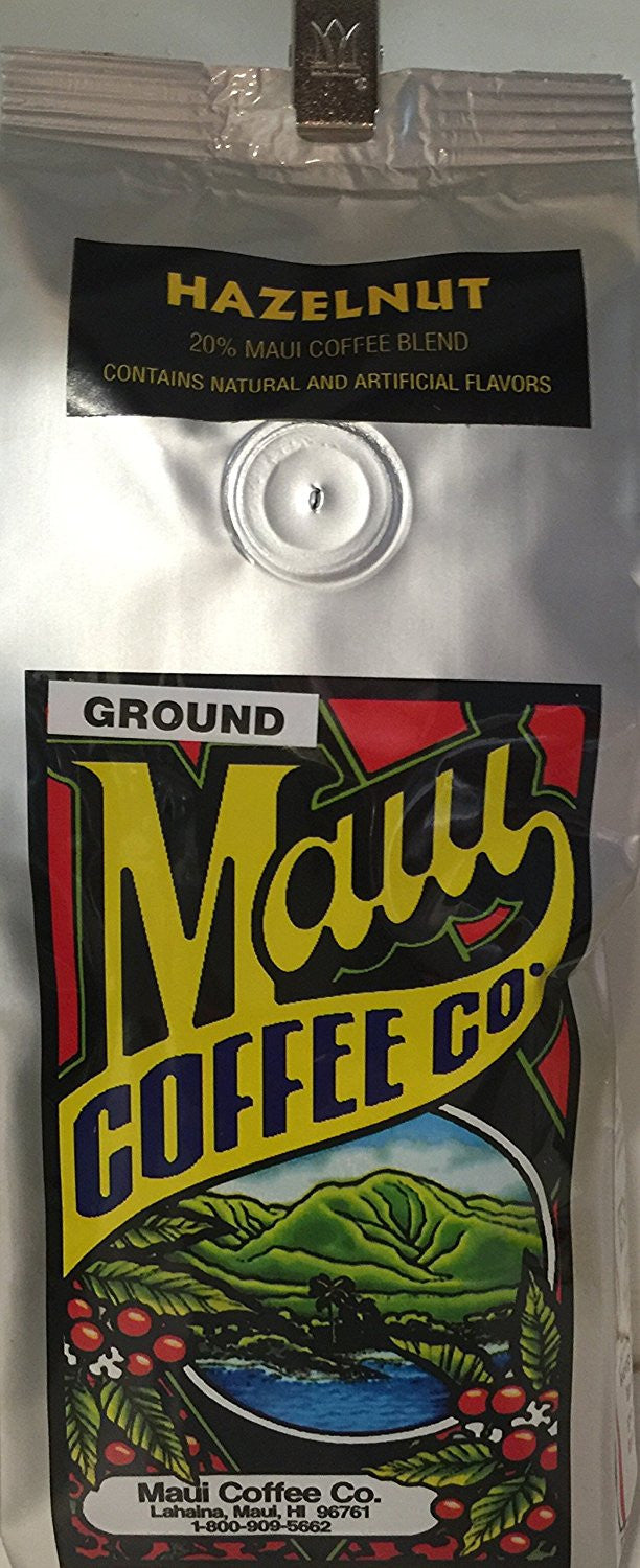 Maui Coffee Company, Maui Blend Hazelnut coffee, 7 oz. - Ground