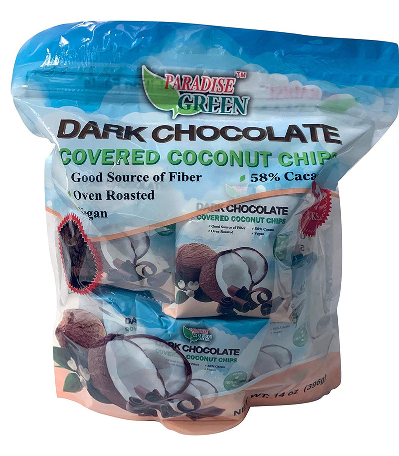 Dark Chocolate Covered Coconut Chips Individual Packs