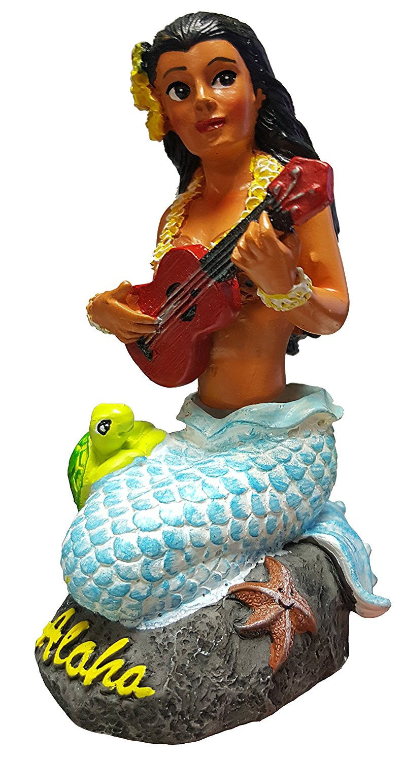"Napua Mermaid Dashboard Doll 4"" X 2"""