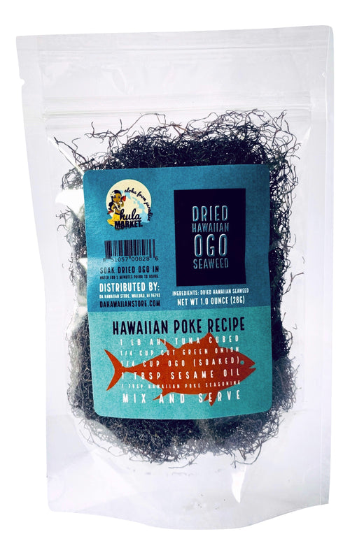 Hula Market Dried Hawaiian Ogo Seaweed