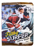 Filthy Santa Surfer Soap all natural glycerin BAR SOAP Coconut Lime Grapefruit