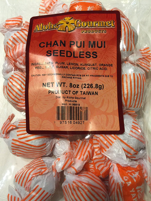 Aloha Gourmet Chan Pui Mui Seedless 8 Oz. Bag
