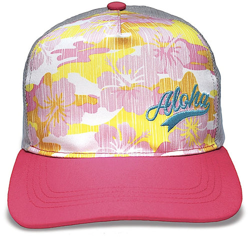 Island Caps Hawaiian Inspired Flat Brimmed Hats (Choose from Multiple Designs)