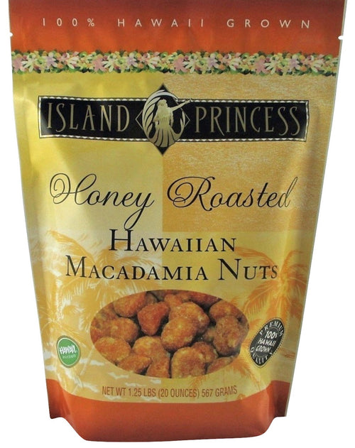 Island Princess Honey Roasted Hawaiian Macadamia Nuts, Premium Quality 1.25 Pounds