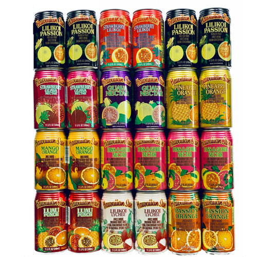 Hawaiian Sun Tropical Premium Juice Drink Party Bundle with all 10 Different Flavors (24 Cans Total)