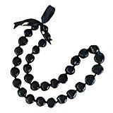 Hawaiian Kukui Nut Lei Necklace (Black 32 Nuts, 32)