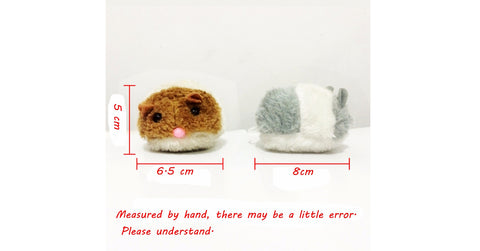 Cute Faux Fur Fat Imitation Mouse Interactive Toy Color Random