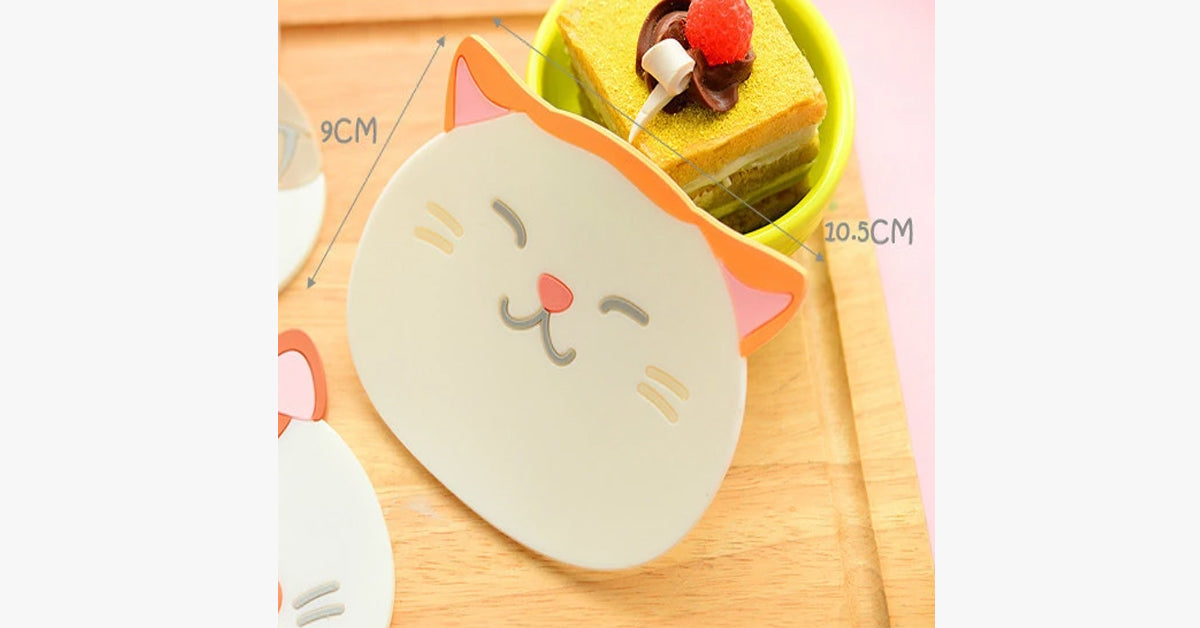 Creative Cute Cat Three-dimensional Cup Pad