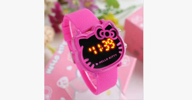 Hot Pink Hello Kitty Waterproof Child Watch