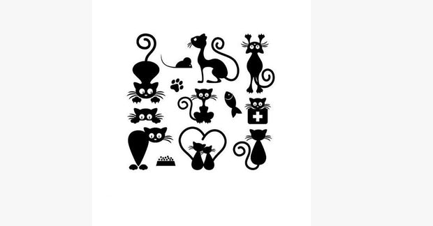Fashion Waterproof Simulation Personality Cat Tattoo Stickers