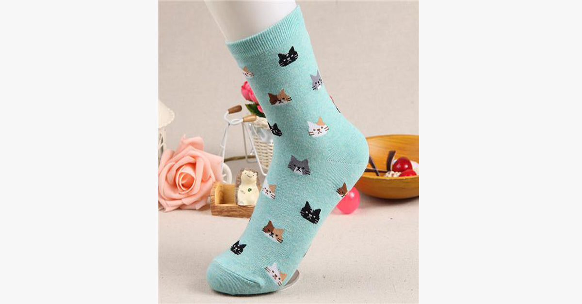 Animal Cartoon Cat lovely for Women Socks