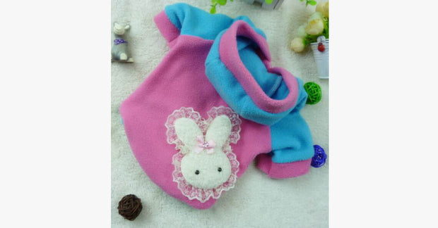 Lovely Lace Rabbit Cat Clothing-Pink color