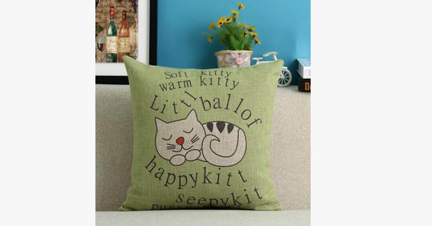 Warm Kitty Pillow Cover