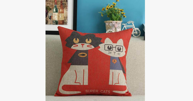 Super Cats Pillow Cover