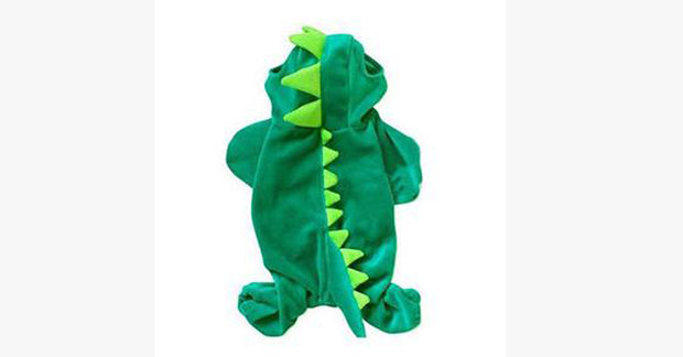 Pet Cat Long Tail Dinosaur Costumes Hoodie