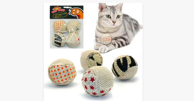 Canvas Balls For Cat Set of 4 (Cat Toys)