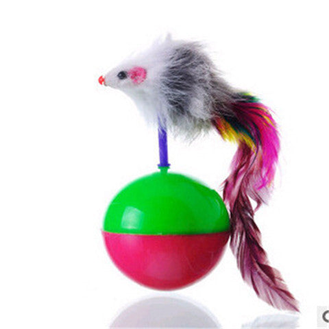 Mouse Tumbler Plastic Toys Balls for Cats Color Random