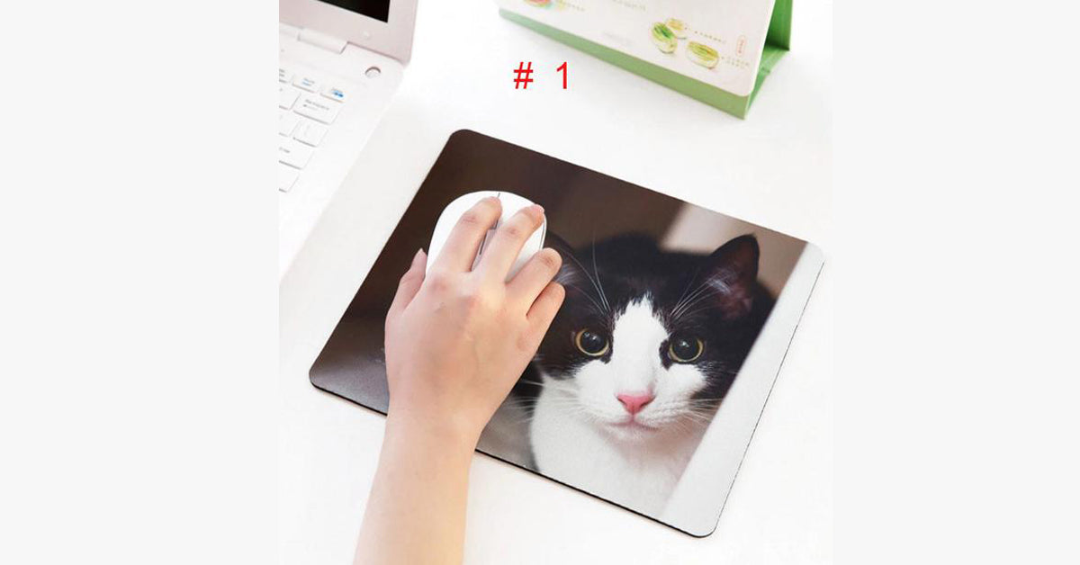 Cat Mouse Pad Pet Cute Small Computer Pad