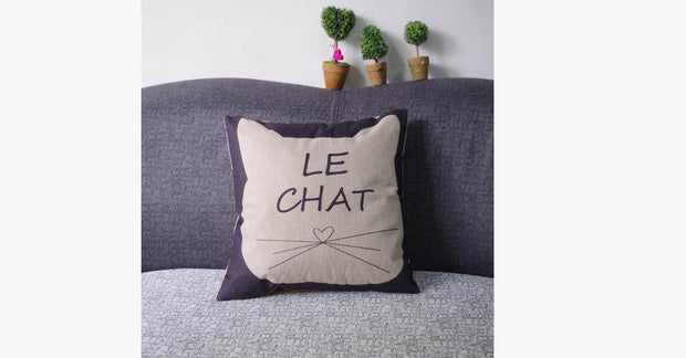 Le Chat Pillow Cover
