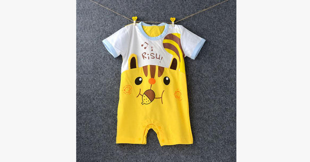 Summer Cartoon Cat Siamese Romper