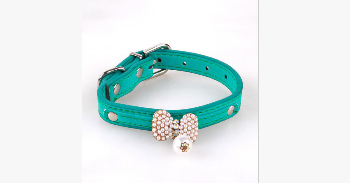 Bow of Pearl Cat Collar