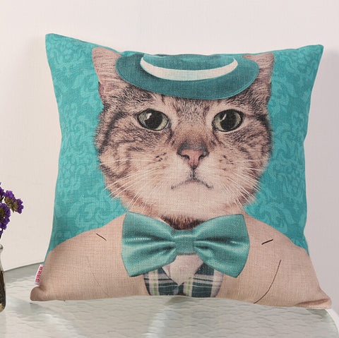 Wear A Suit Cat Pillow Cover