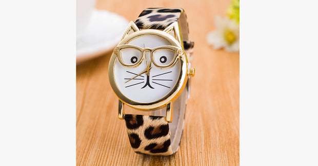 Leopard Cat Face Quartz Watch