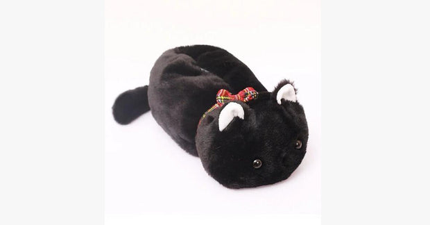 Black Fat Cat Tissue Paper Box Cover