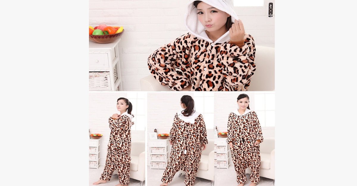 Leopard Cat Pajama Suit