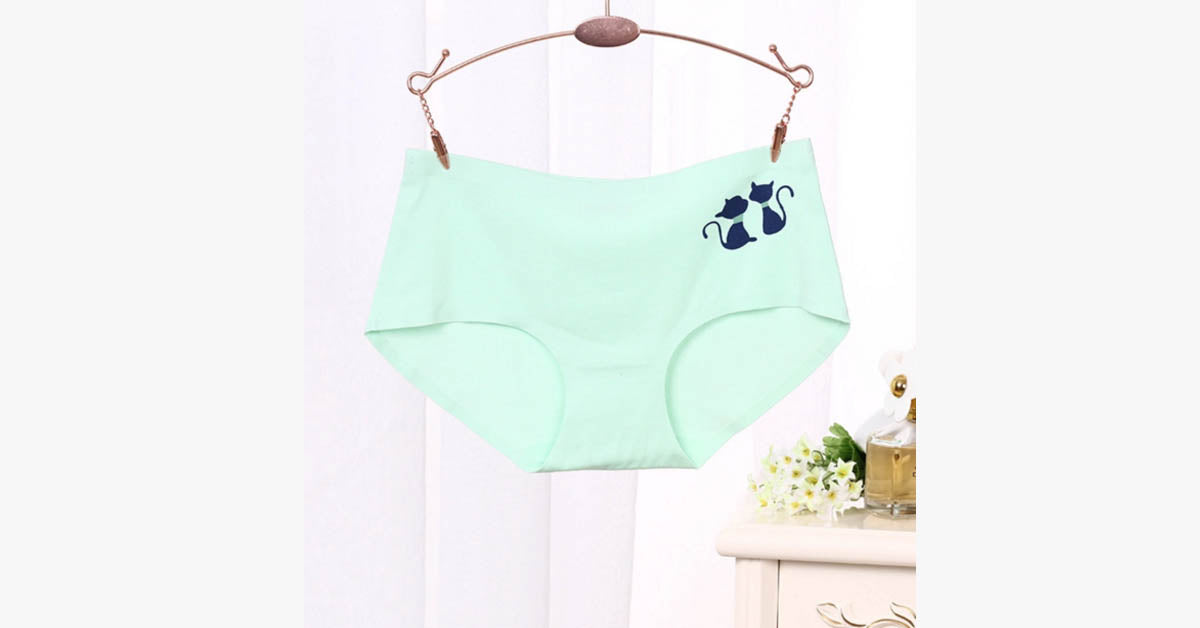 No Trace Calico Kitten Waist Shaping Butt Lift Panty
