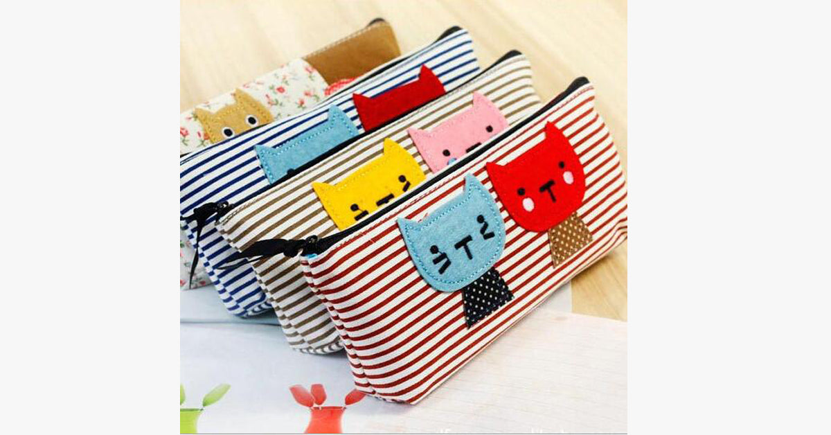 Mianma Kitten Creative Stationery Bag