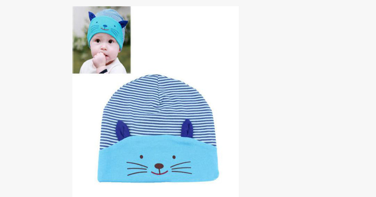 Soft Kawaii Cotton Baby Cat Hat