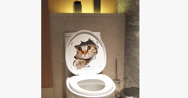 Toilet Escape Cat Sticker