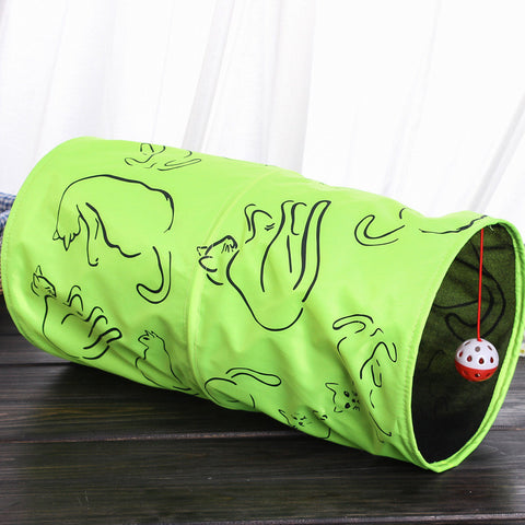 Fluorescent Green Folding Cat Tunnel