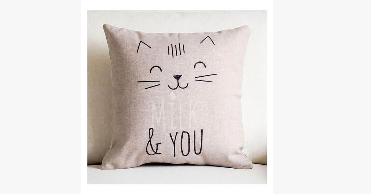 Milk & You Pillow Cover