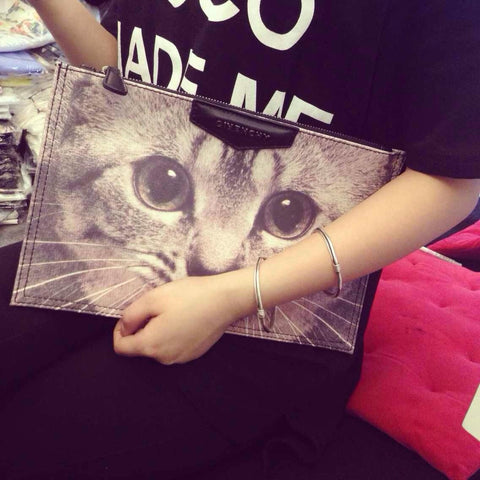 Fashion Cat Envelope Bag
