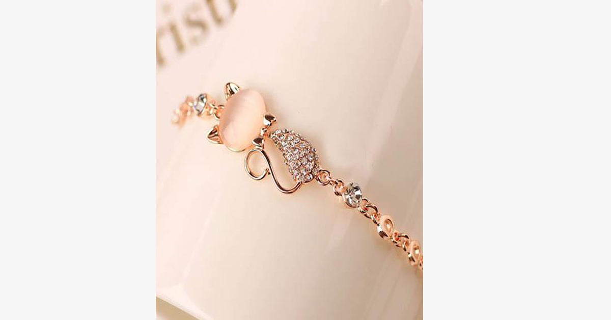 Cute Cat Charm Bracelet Jewelry