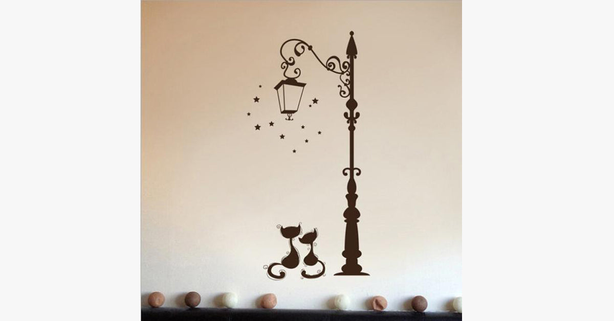 The Street Cat Living Room Decorative Wall Stickers