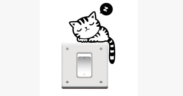 Sleeping Cat Switch Stickers