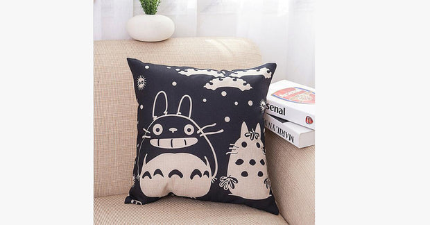 Black Totoro Pillow Cover