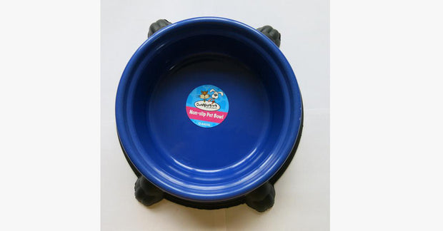Blue Silicone Rubber Anti Slip Plastic Cat Bowl
