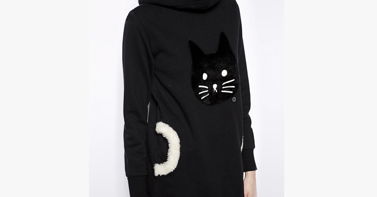 Long Hooded Kitty Sweater