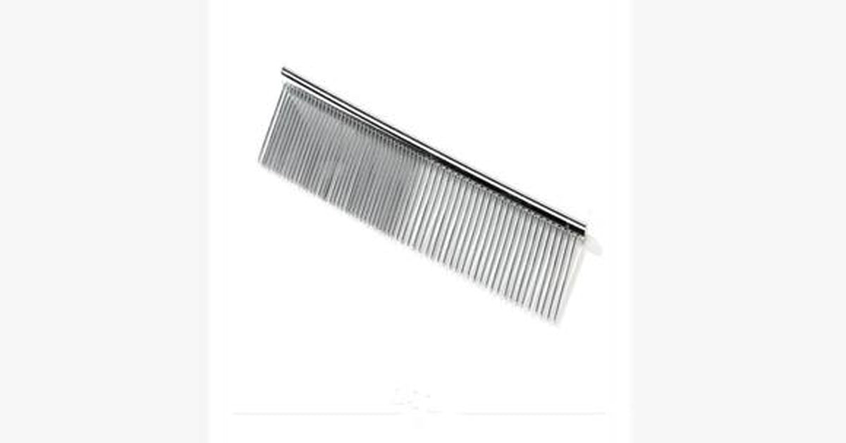 Stainless Steel Barber Comb Pet Cleaning Brush