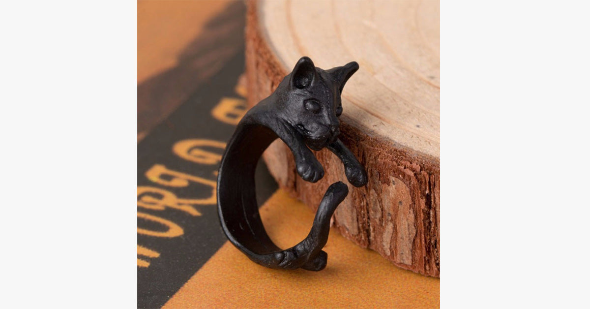 Vintage Plated Kitten Ring